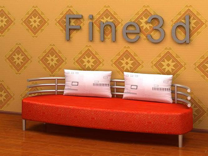 Combinated sofa collection3D model