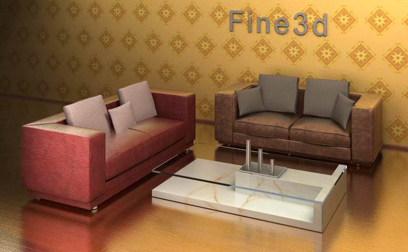 Chich living room furniture collection 3d model max obj for New model living room furniture