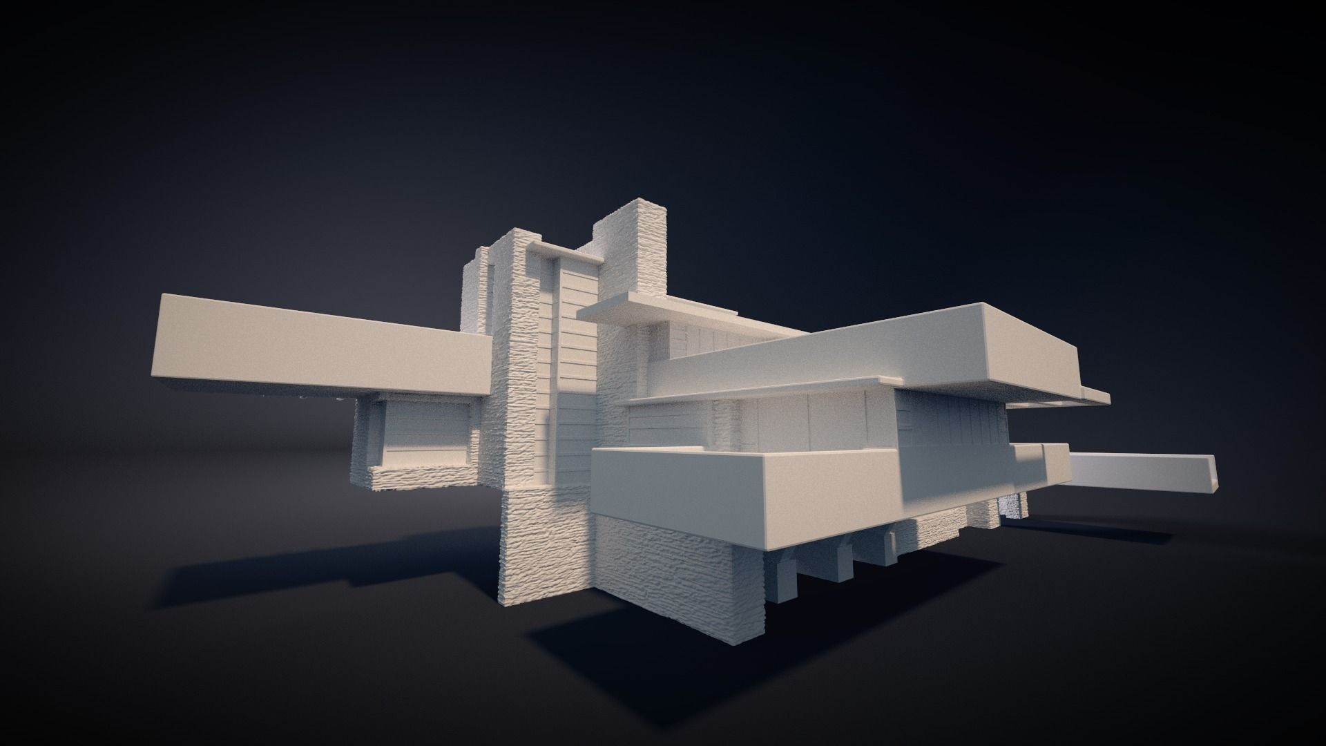 Fallingwater house 3d printable 3d model 3d printable for Free 3d house models