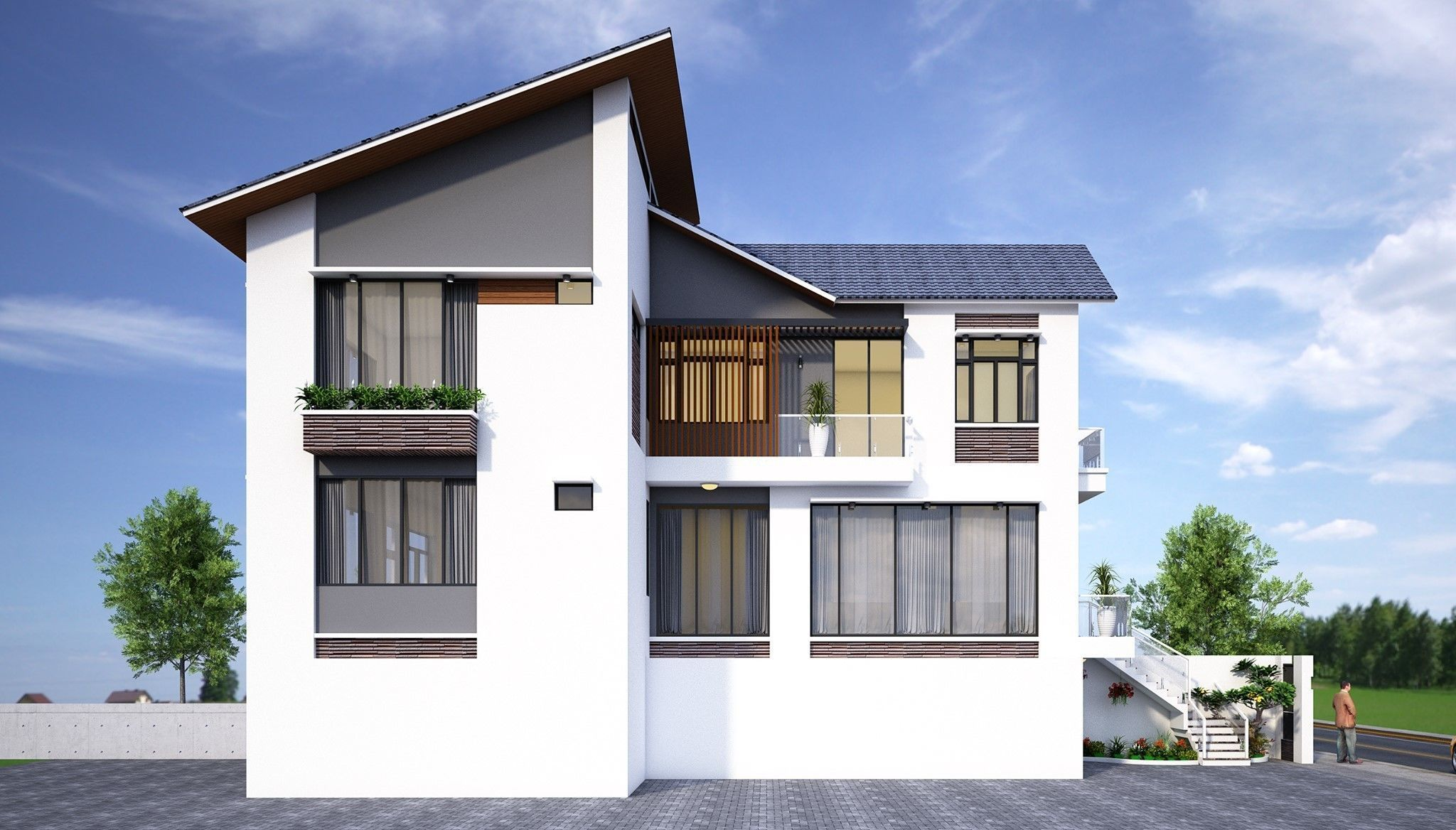 animated home House design 3d model CGTrader