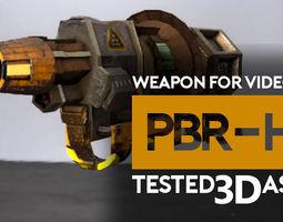 weapon gun radiation or acid 3d asset game-ready PBR