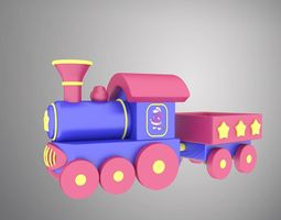 3D asset Locomotive