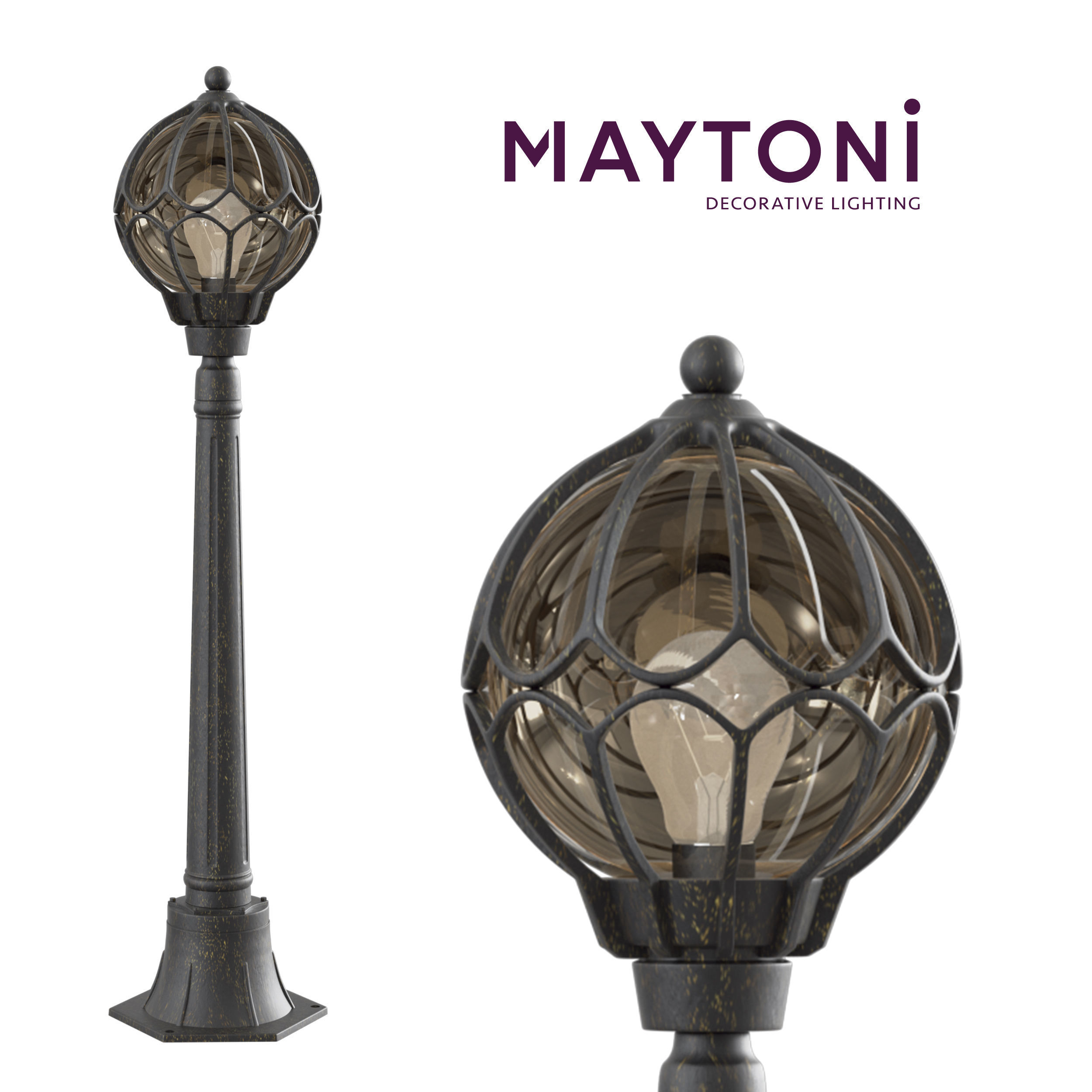 Garden Lamp 3d Model: Wall Lamp Champs Elysees S110-10-01-R Maytoni Outdoor 3D