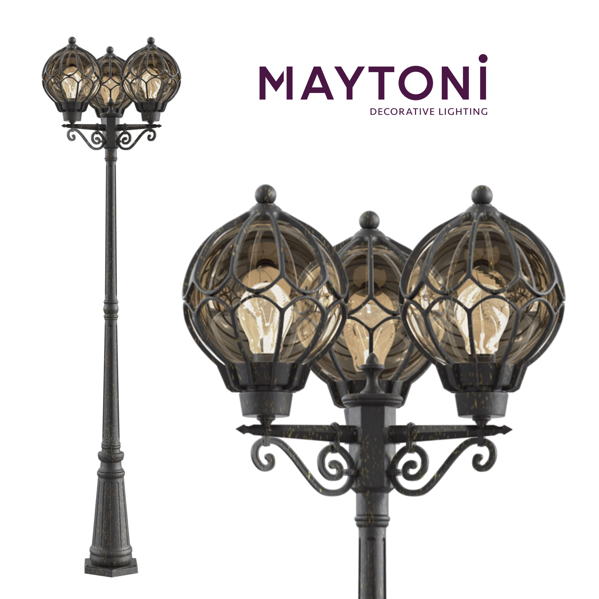 Garden Lamp 3d Model: Wall Lamp Champs Elysees S110-22-03-R Maytoni Outdoor 3D