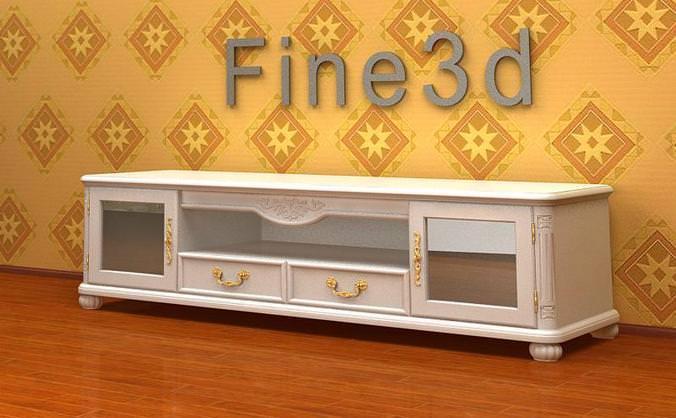 Antique storage cabinet collection3D model