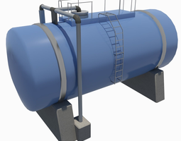 low-poly industrial tank 3d model
