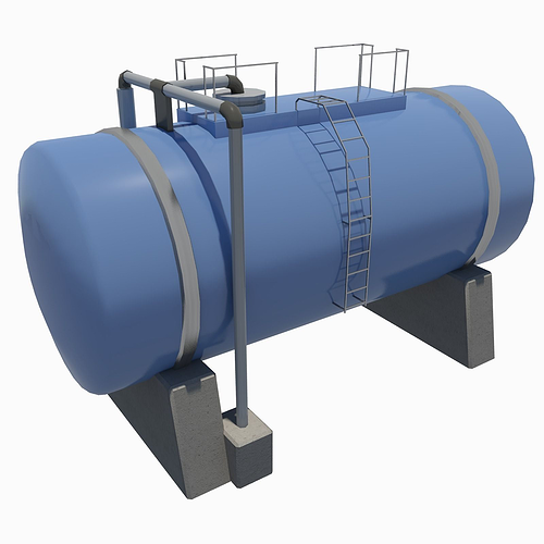 industrial tank 3d model low-poly max fbx 1