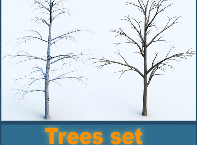 Trees collection3D model