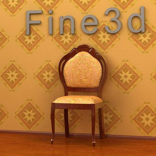 Fancy Dinner Chair collection3D model