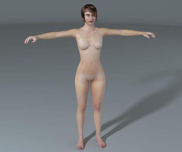 woman-high poly 3d model max obj mtl fbx 1