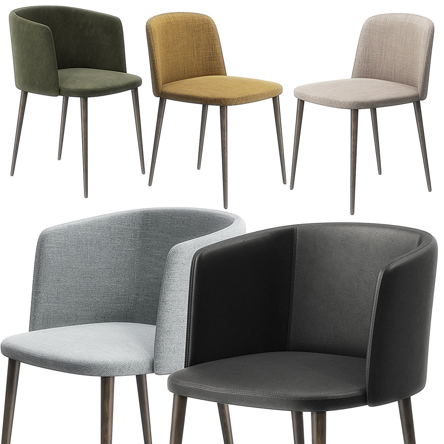 Ballet dining chairs by Camerich