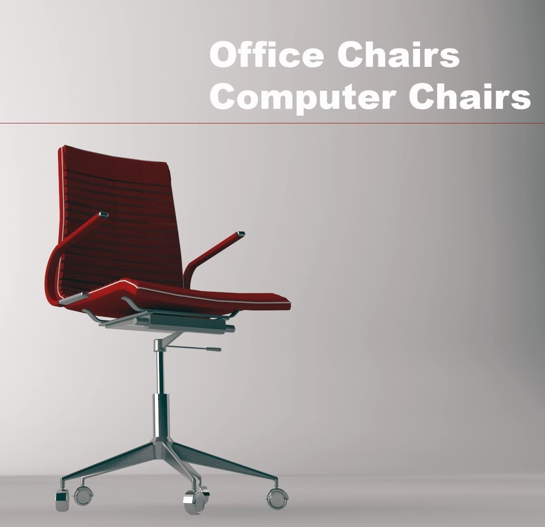 Office Chairs And Computer Chairs 3d Model