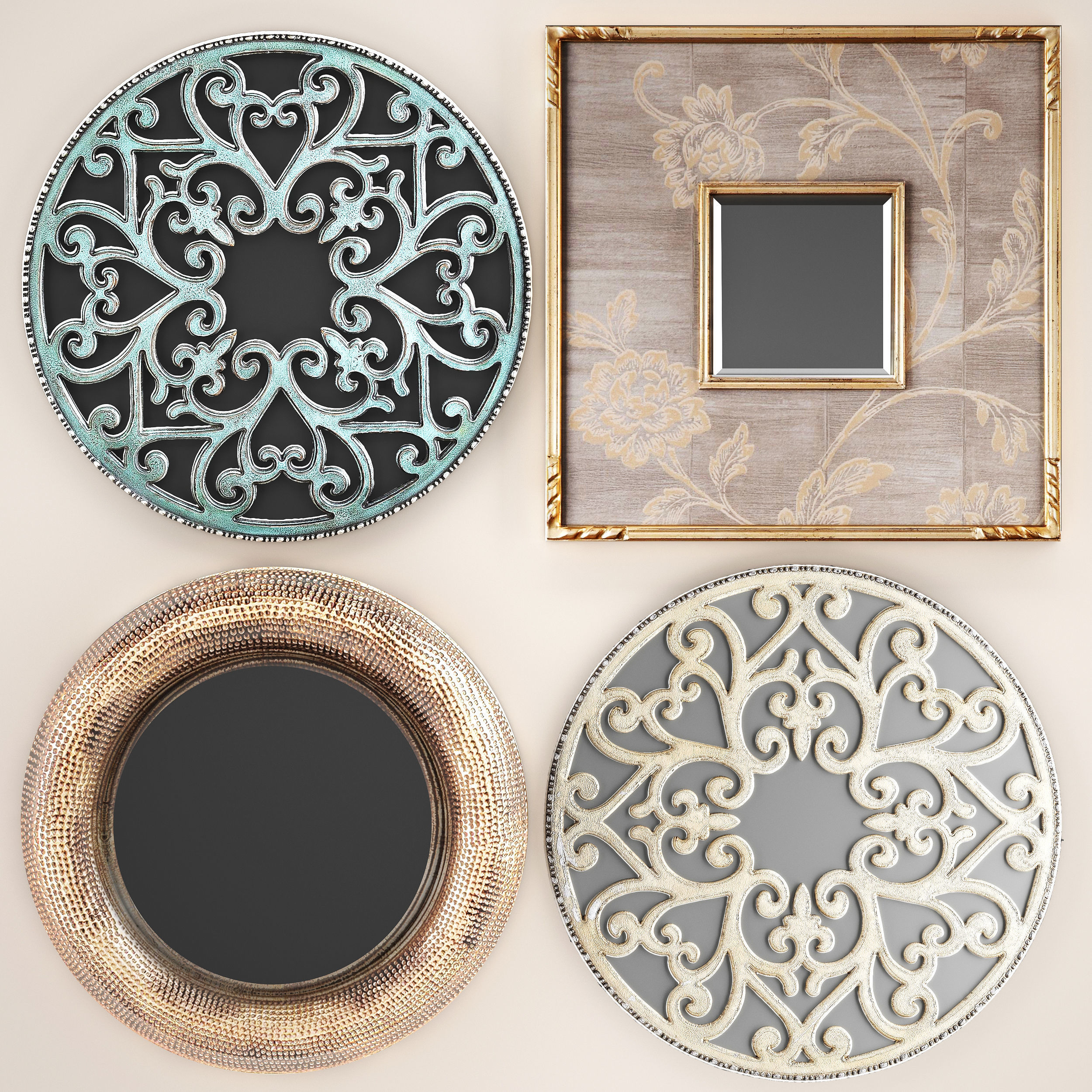 Collection of decorative mirrors 2