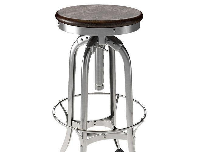 Incredible 1940S Vintage Toledo Barstool 3D Model Cjindustries Chair Design For Home Cjindustriesco