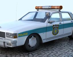 Chevrolet Caprice - Police car 1 3D Model