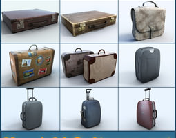 New Old suitcase collection 3D Model