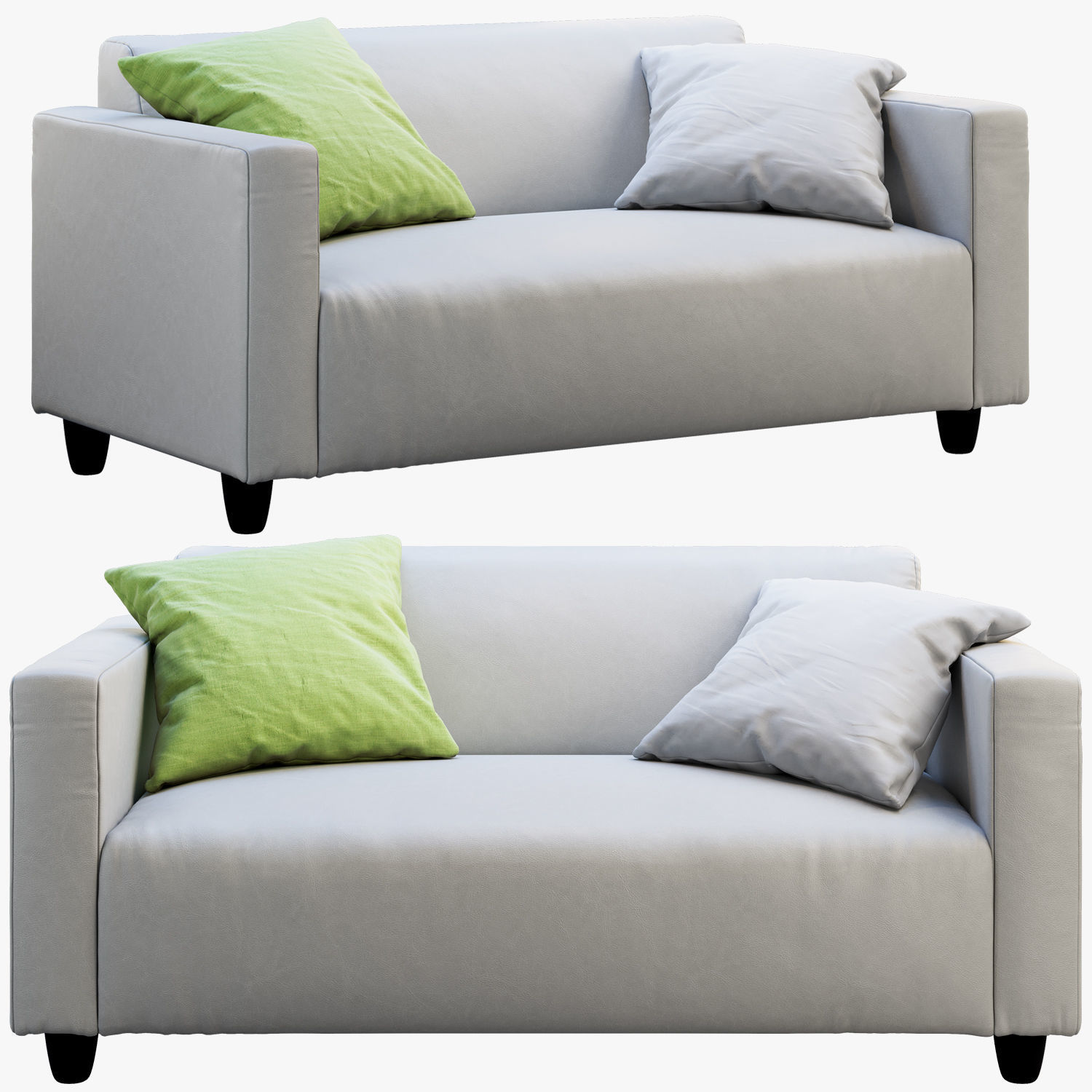 Magnificent Ikea Klubu Leather Sofa 3D Model Onthecornerstone Fun Painted Chair Ideas Images Onthecornerstoneorg