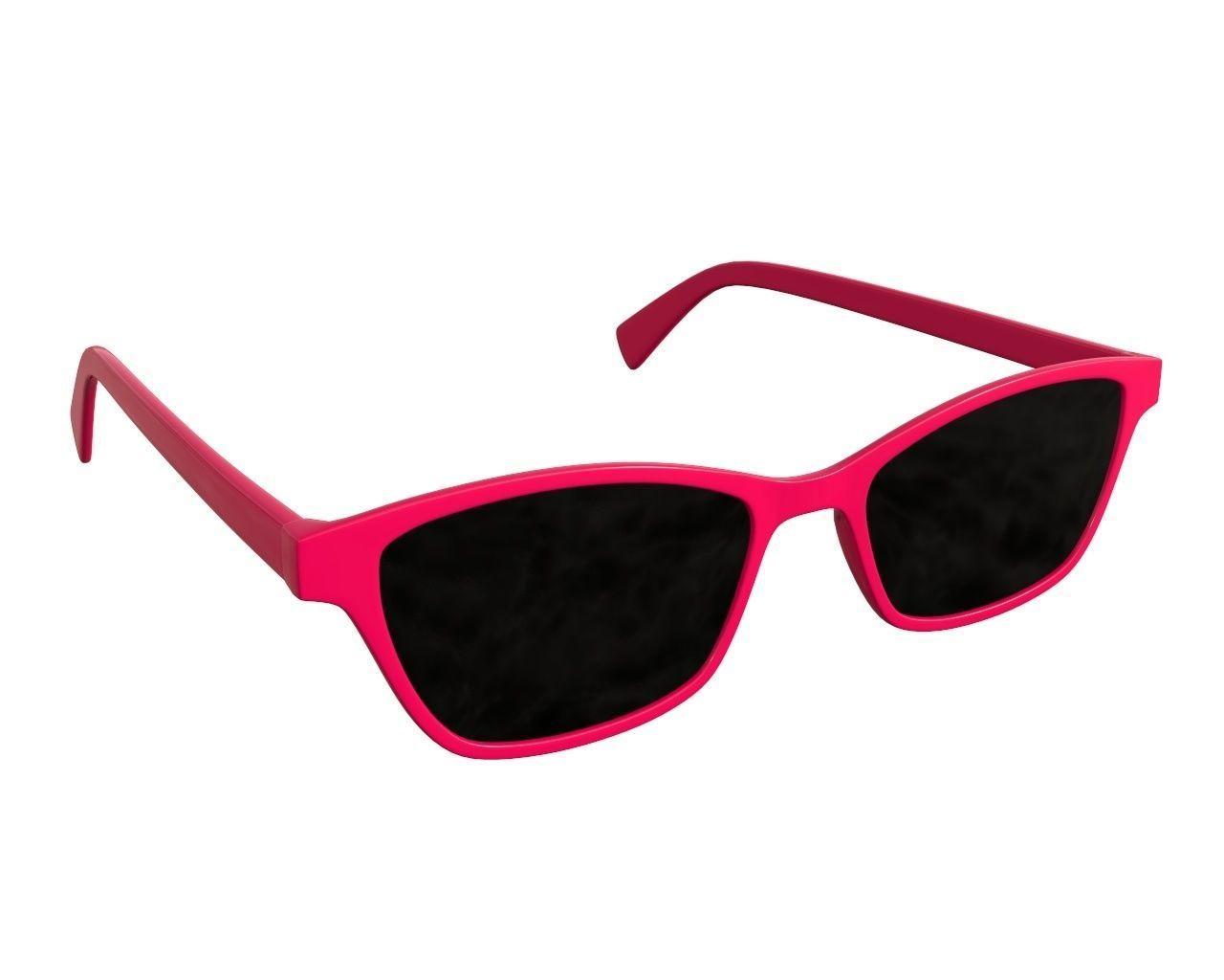 Female modern sun glasses