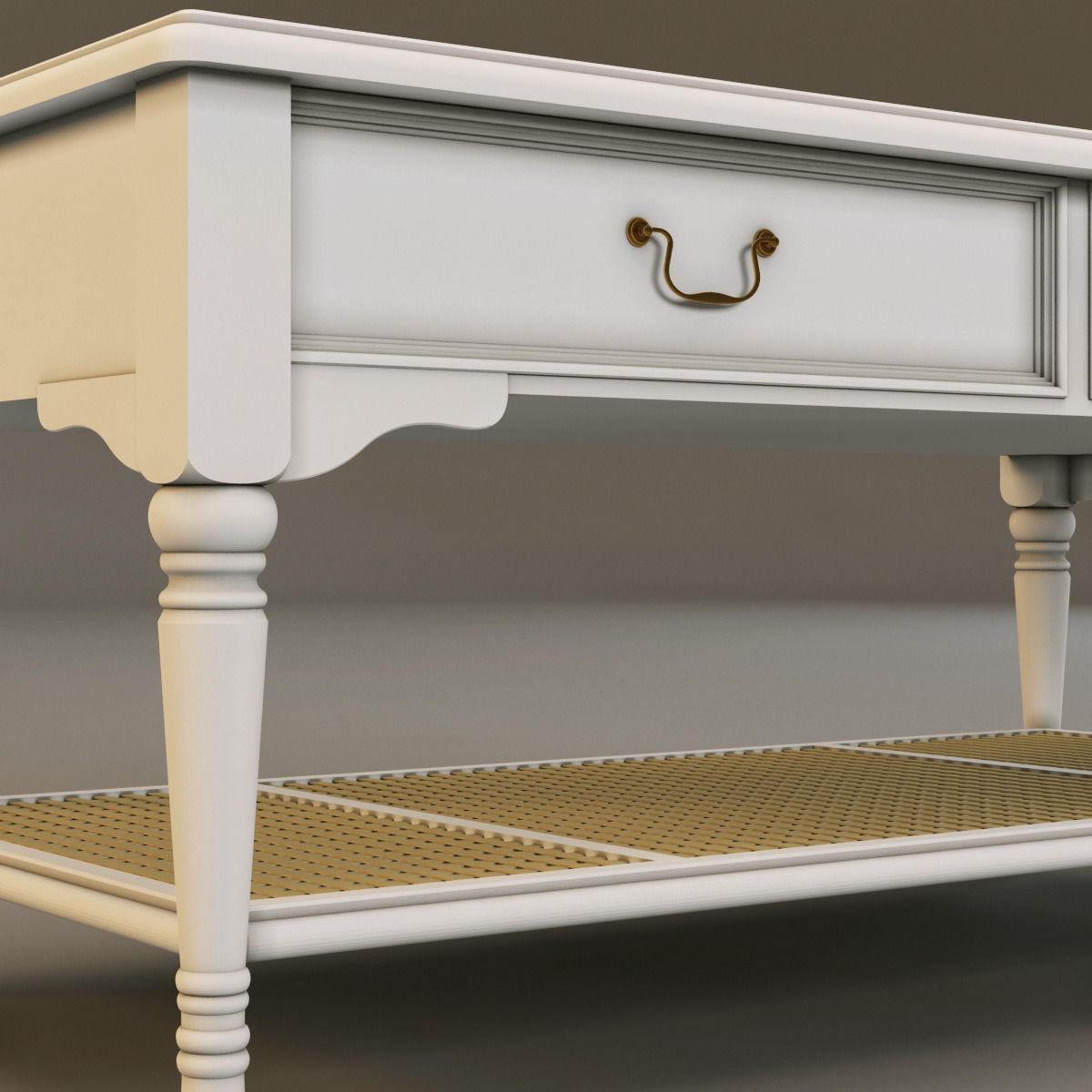 Laura Ashley Coffee Table With Drawers: Laura Ashley Coffee Table 3D Model MAX OBJ 3DS FBX