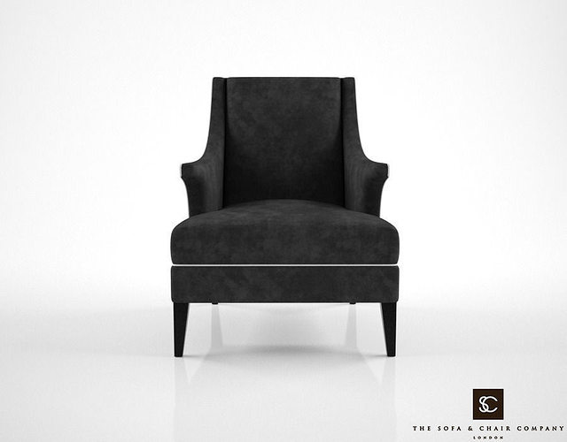 the sofa and chair company bishop armchair 3d model max obj mtl fbx 1