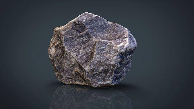 stone 3d model obj mtl fbx ma mb 1