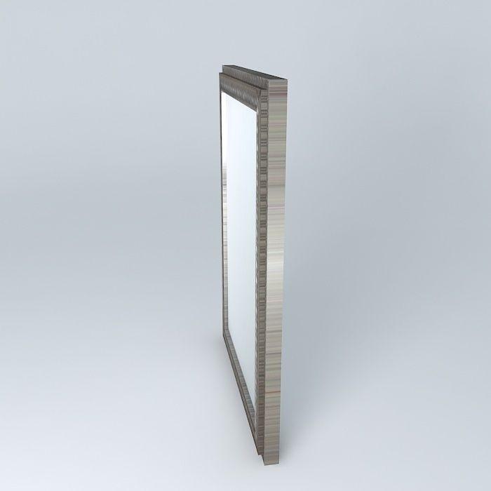 Simple mirror 3d model max obj 3ds fbx stl dae for Mirror 3d model