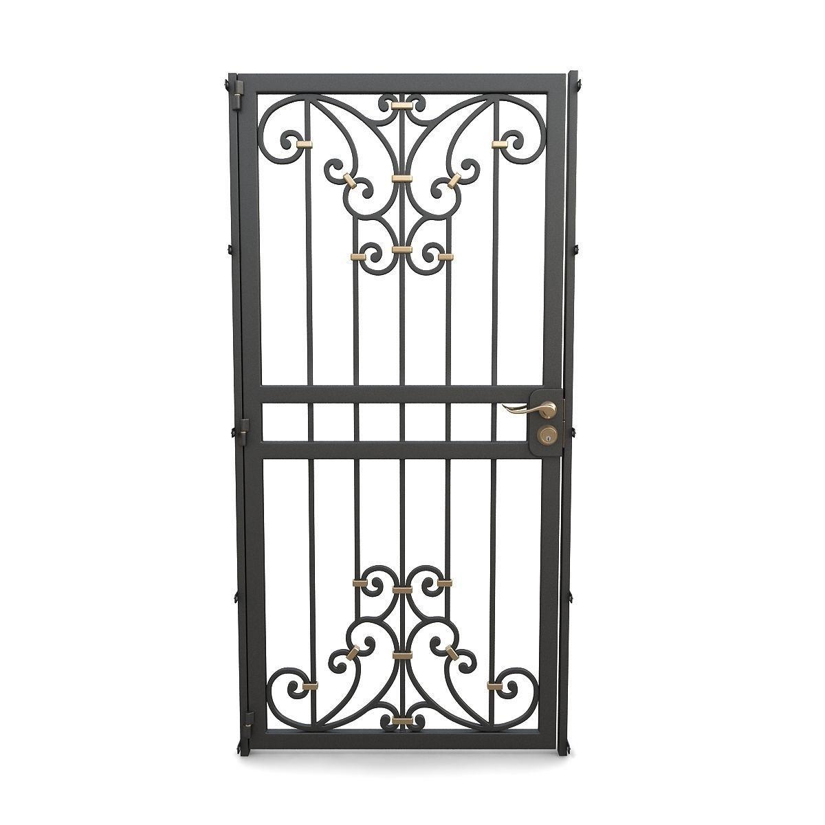 Wrought iron gate 12
