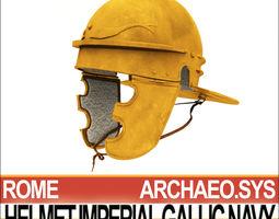 roman helmet imperial gallic navy 3d model obj 3ds c4d vue