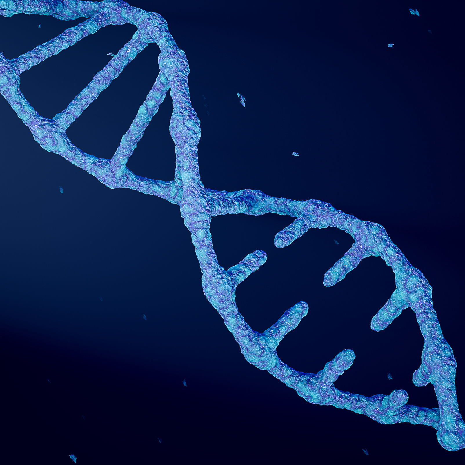 Animated DNA model