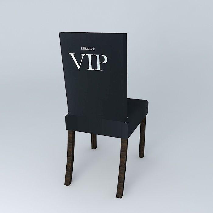 Vip Chair Cover 3d Model Max Obj 3ds Fbx Stl Dae