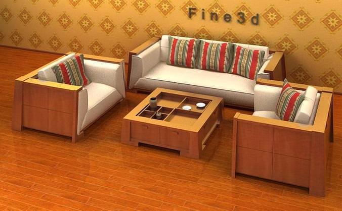 Living Room set collection3D model
