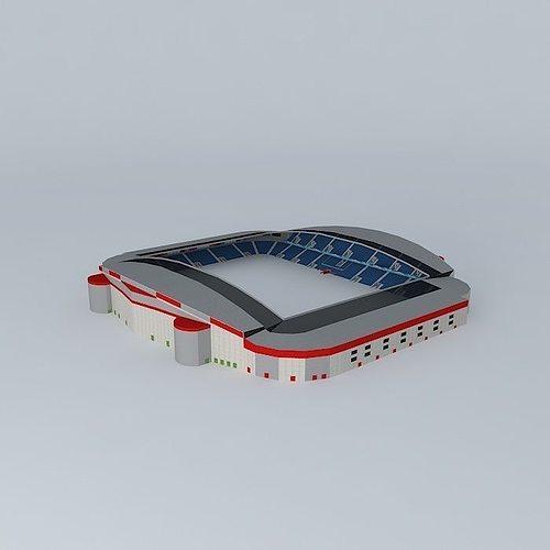 how to make a football stadium model