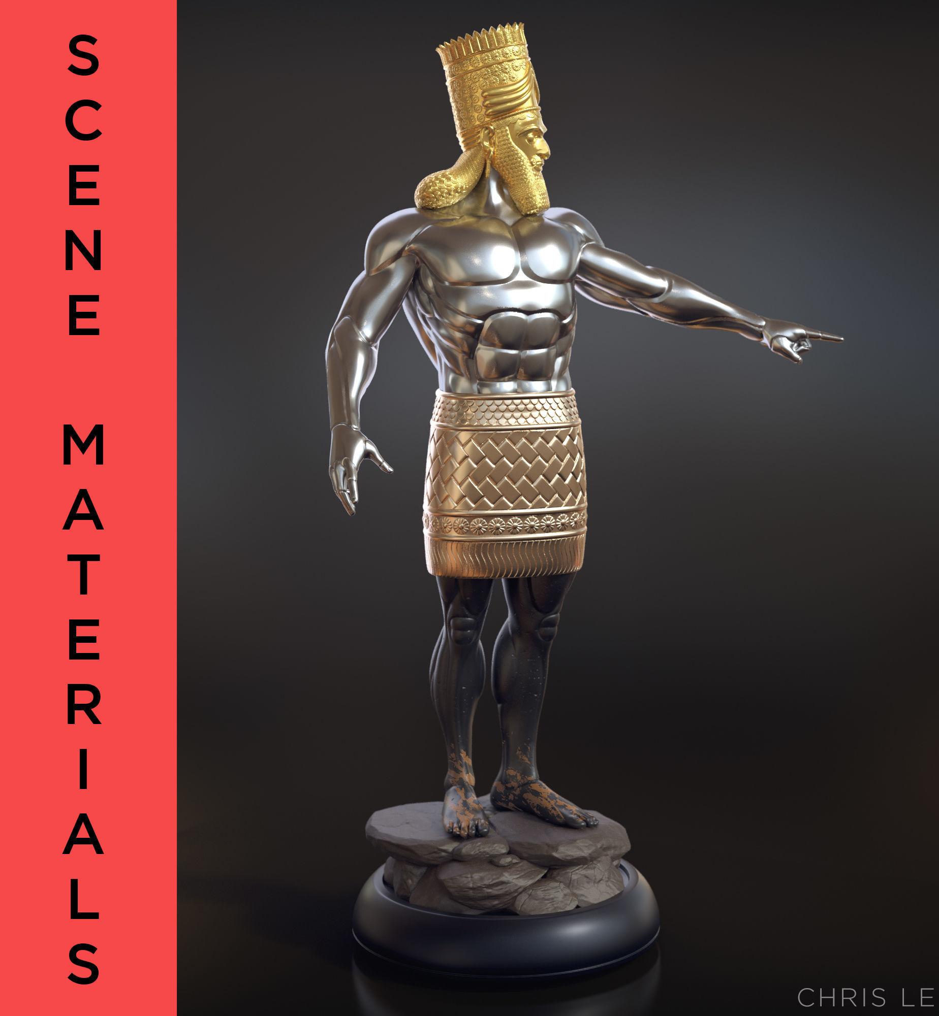 Daniel 2 Statue King Nebuchadnezzar 3D printable model 3
