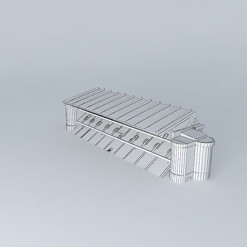 Stadium Stand Free 3d Model Max Obj 3ds Fbx Stl Dae
