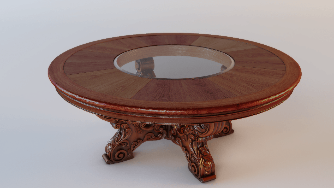 Classic Round Table 3D Model .max - CGTrader.com