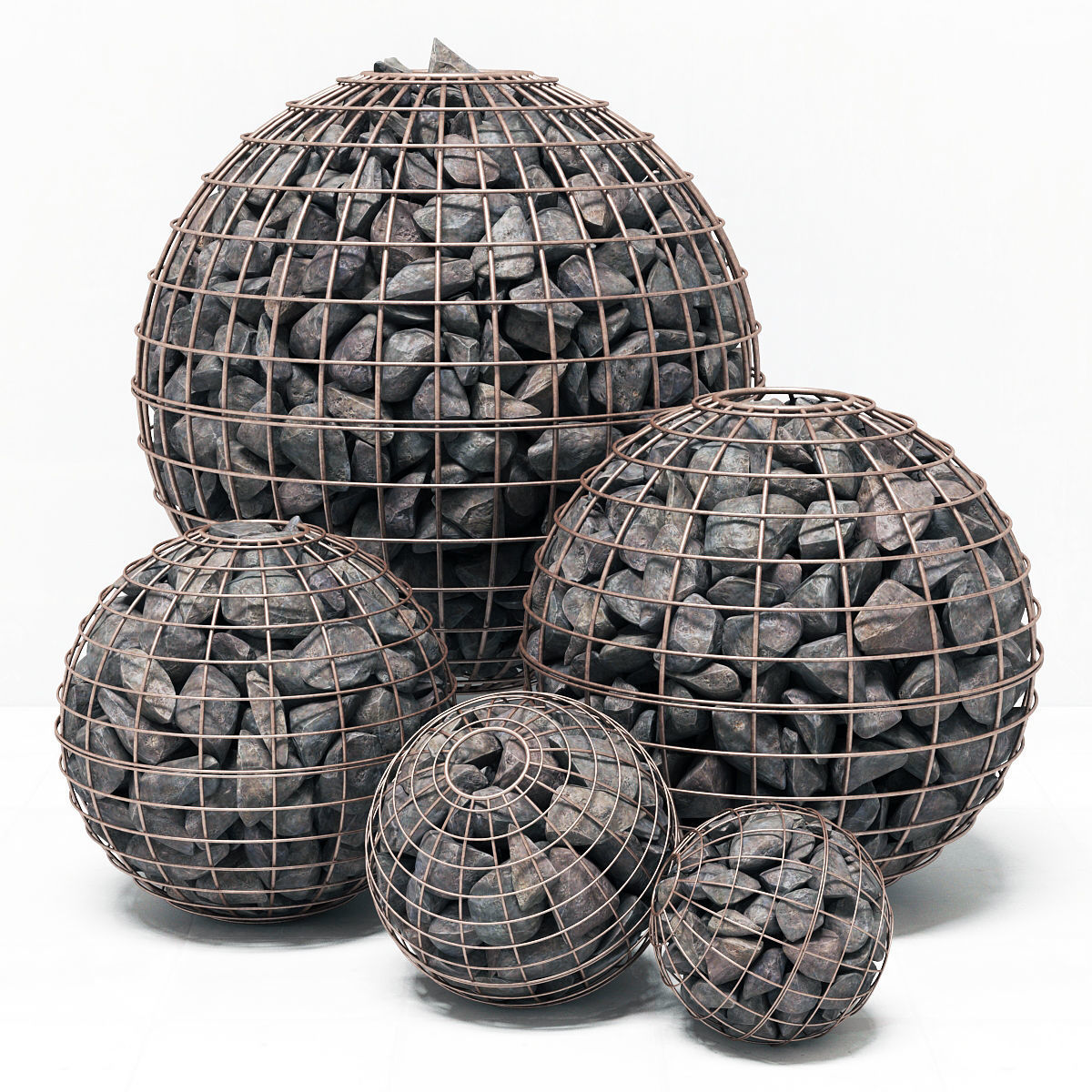 Gabion sphere form