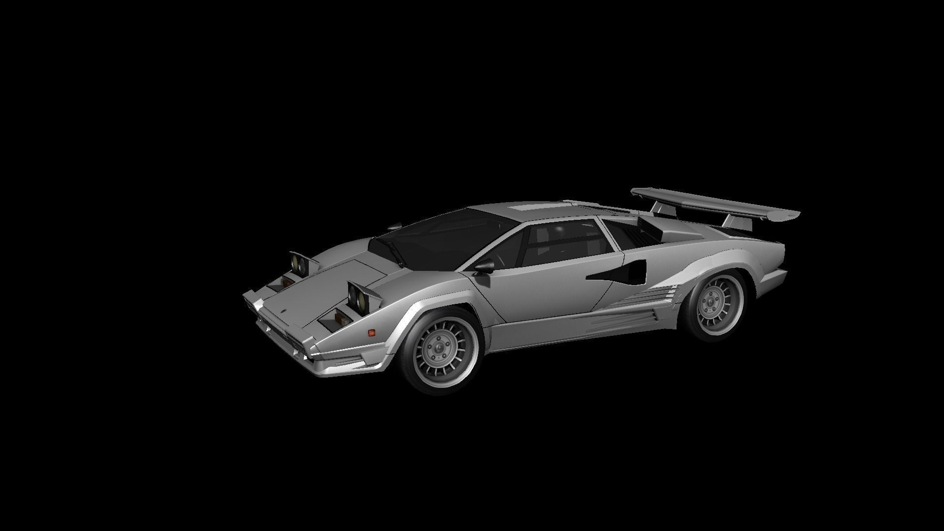 lamborghini countach lp400 1975 3d model game ready tga. Black Bedroom Furniture Sets. Home Design Ideas