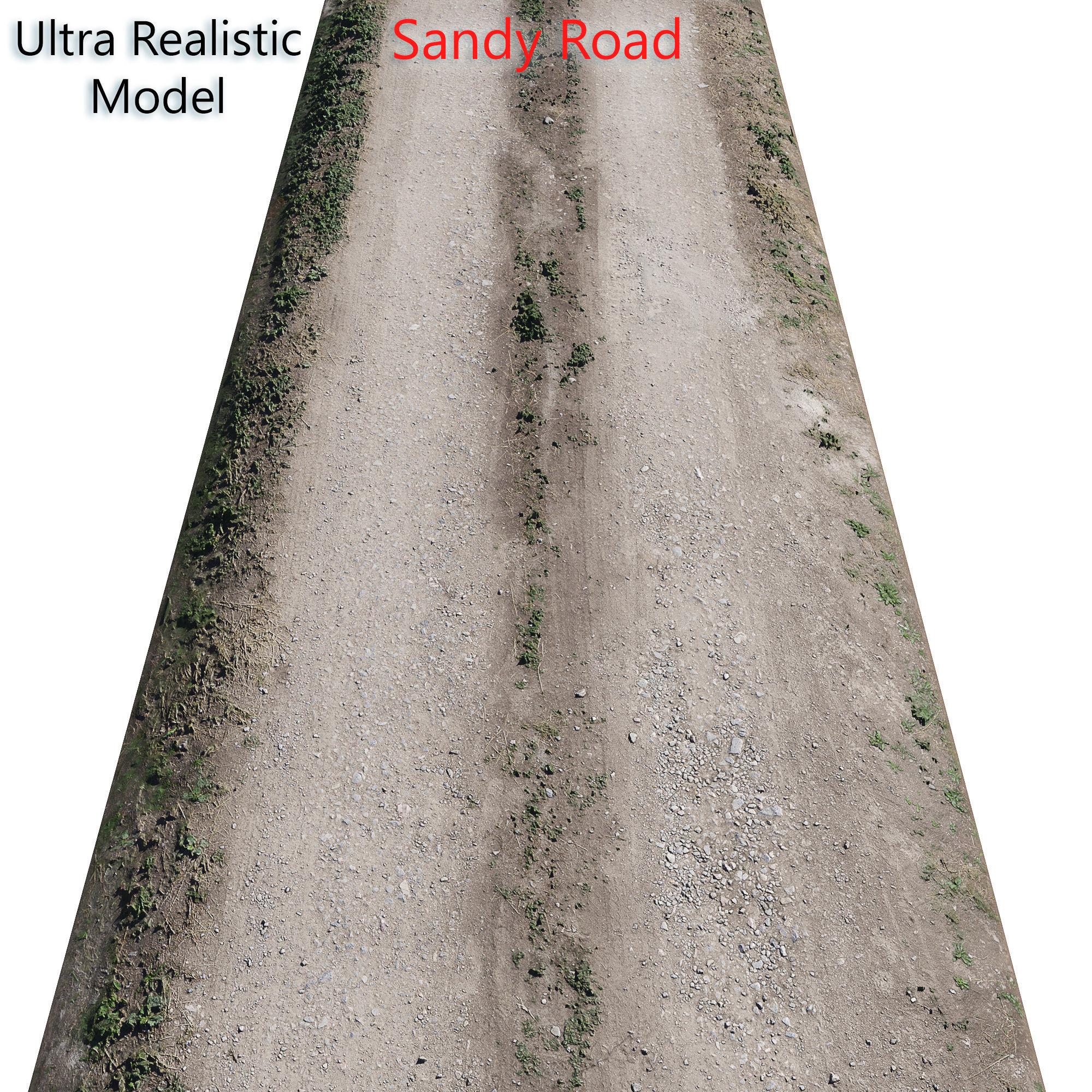 Ultra realistic Sandy Road Scan 2