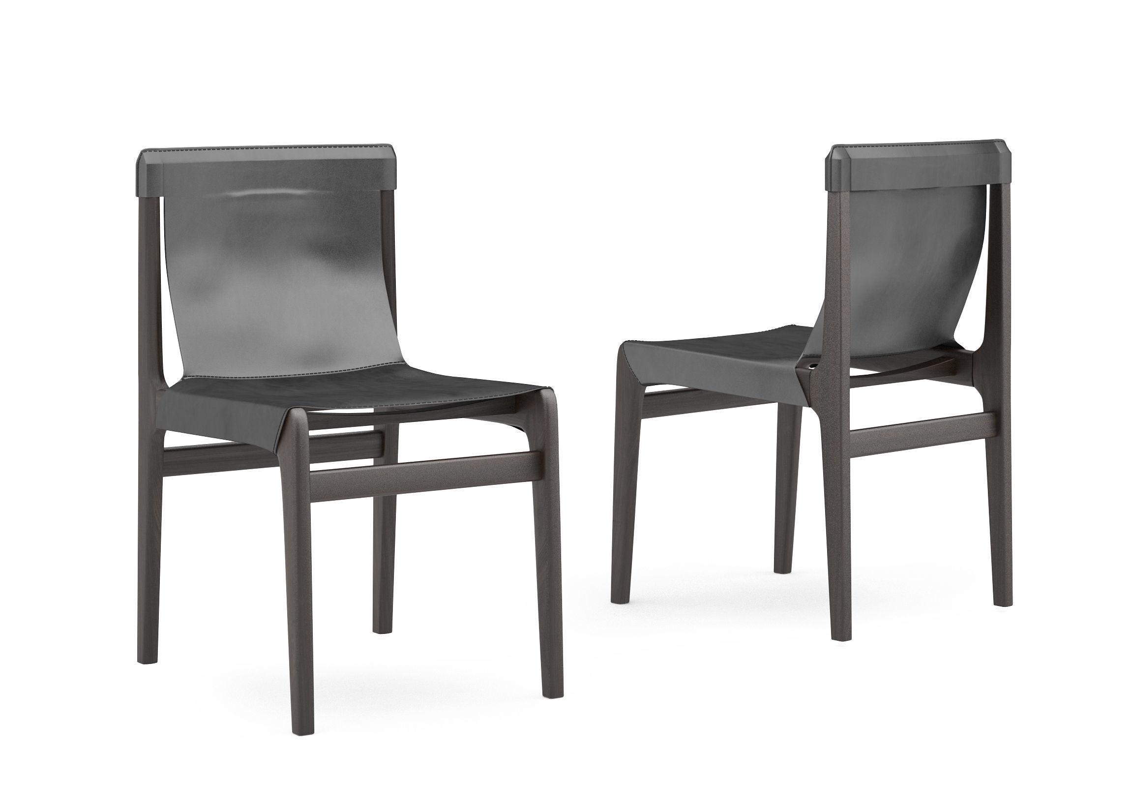 Sensational Cb2 Burano Leather Sling Chair 3D Model Uwap Interior Chair Design Uwaporg