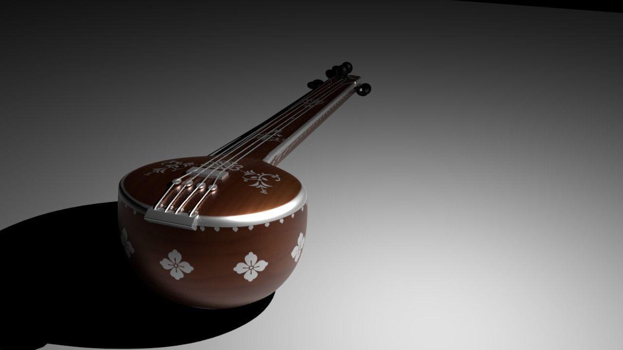 Tambura   3D model