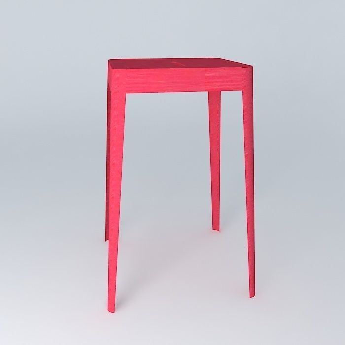 Stool Jim Red 3d Model Max Obj 3ds Fbx Stl Dae