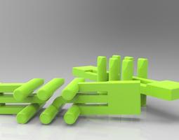 3D printable braille 6-pin matrix