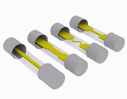 Tube Fuses 3D asset