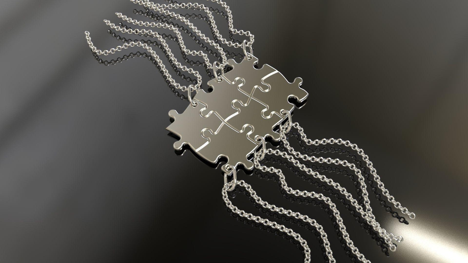 Puzzle pendants six friends C0-3000083
