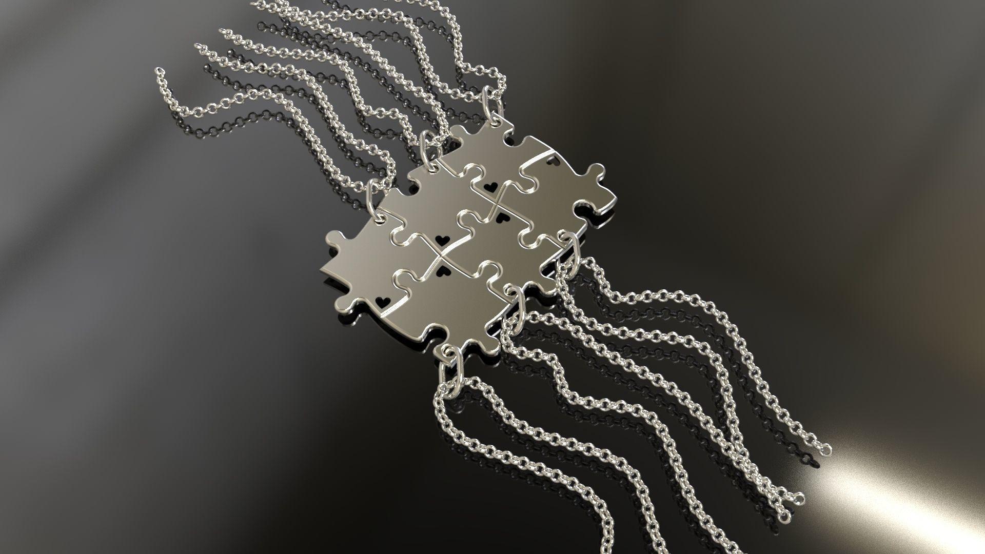 Puzzle pendants six friends C0-3000084