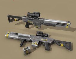 sci fi battle rifle 3D