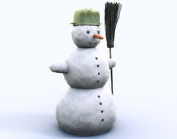 Snowman 1 20430 3D Model