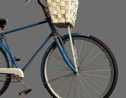old rusted  bicycle 3d