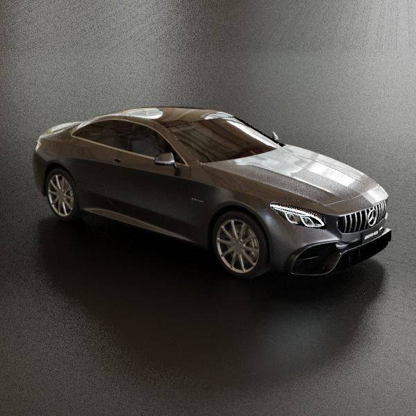 Mercedes Benz S Class 2019 S63 AMG Coupe 3D Model