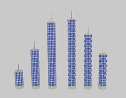 3D model Toon Skyscrapers Pack 1